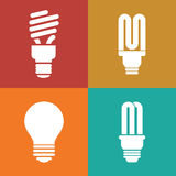 Lightbulb icons Stock Images