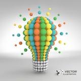 Lightbulb. Idea concept. 3d vector illustration Royalty Free Stock Photography
