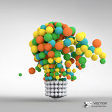 Lightbulb. Idea concept. 3d vector illustration Royalty Free Stock Image