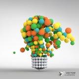 Lightbulb. Idea concept. 3d vector illustration Royalty Free Stock Image