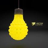 Lightbulb. Idea concept. 3d vector illustration Stock Images