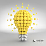 Lightbulb. Idea concept. 3d vector illustration Royalty Free Stock Photography