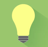 Lightbulb idea. Concept flat design and long shadow Royalty Free Stock Images