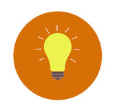 Lightbulb idea. Concept flat design and long shadow Stock Photos