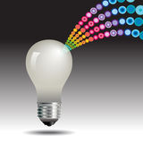 Lightbulb idea concept Royalty Free Stock Photo