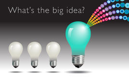 Lightbulb idea concept Stock Images