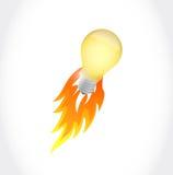 Lightbulb idea concept illustration Stock Images