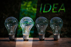 Lightbulb idea concept a number Royalty Free Stock Photography