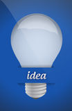 Lightbulb idea design over blue background Stock Image