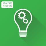 Lightbulb idea icon. Business concept bulb pictogram. Vector ill Stock Image