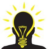 Lightbulb idea Royalty Free Stock Photography