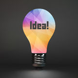 Lightbulb idea symbol. 3d vector illustration Stock Photo