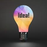 Lightbulb idea symbol. 3d vector illustration Stock Photo