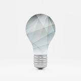 Lightbulb idea symbol. 3d vector illustration. Can Royalty Free Stock Images