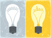 Lightbulb with idea. Vector illustration Royalty Free Stock Images