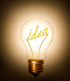 Lightbulb idea Stock Image