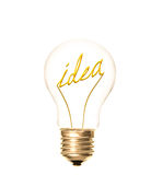 Lightbulb idea Royalty Free Stock Photo