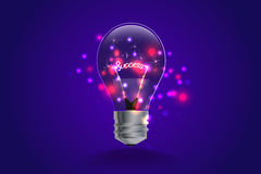 Lightbulb ideas concept. light and line motion. Vector illustration Royalty Free Stock Photo