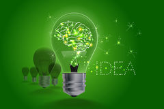 Lightbulb ideas concept. light and line motion. Royalty Free Stock Photo