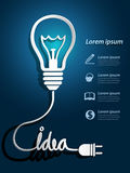 Lightbulb ideas Stock Image