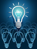 Lightbulb ideas Royalty Free Stock Image