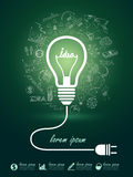 Lightbulb ideas Stock Photography