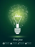 Lightbulb ideas Stock Photo