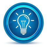 Lightbulb ikony gałki ocznej round błękitny guzik ilustracja wektor