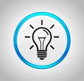 Lightbulb ikony round pchnięcia błękitny guzik ilustracji