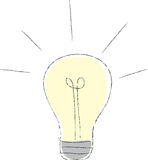 Lightbulb Illustration Royalty Free Stock Photos