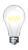 Lightbulb illustration. Illustration of an illuminated lightbulb vector illustration