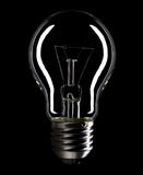 Lightbulb isolated on black Royalty Free Stock Photography