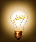Lightbulb jesus arkivfoton