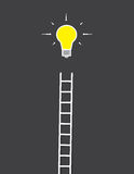 Lightbulb Ladder Stock Photos