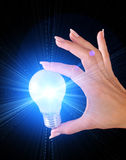 Lightbulb and  light Royalty Free Stock Images