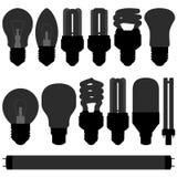 Lightbulb light bulb lamp set Royalty Free Stock Images