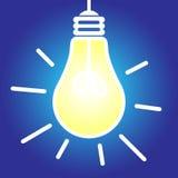 Lightbulb lit royalty free illustration