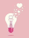Lightbulb of love concept Stock Image