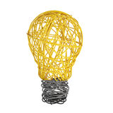 Lightbulb made of wire Royalty Free Stock Image