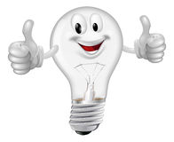 Lightbulb man Stock Photography