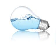 Lightbulb med vatten inom Arkivbilder