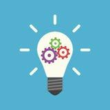 Lightbulb met binnen toestellen Vector Illustratie