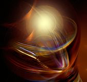 Lightbulb ( moment). Conceptual digital artwork, can be used to either express a light bulb moment or for a lamp that saves electricity Royalty Free Stock Images