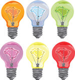 Lightbulb o rama. Royalty Free Stock Images