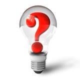 lightbulb oceny pytanie royalty ilustracja