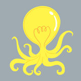 LightBulb Octopus Royalty Free Stock Photos