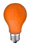 Lightbulb orange Royalty Free Stock Photo