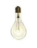 Lightbulb Over White Background. Incandescent lightbulb isolated over white background - With Clipping path stock images