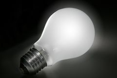 Lightbulb with path royalty free stock images