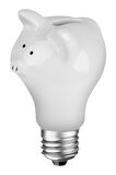 Lightbulb Piggybank Stock Foto